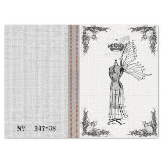 Burlap Dress Form Fairy Tissue Paper