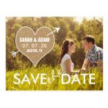 Burlap Heart | Rustic Save the Date