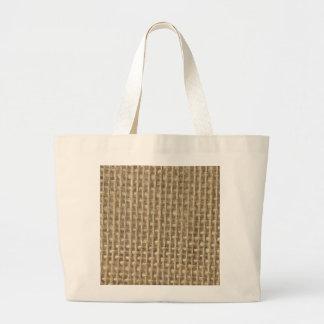 Burlap in Natural Beige Tote Bag