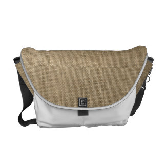 Burlap in Natural Beige Courier Bag