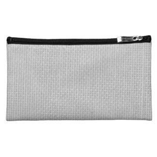 Burlap in Silvery White Cosmetic Bag