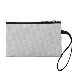 Burlap in Silvery White Coin Purses