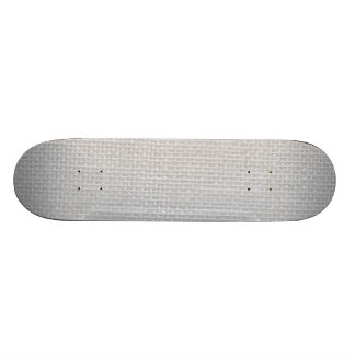 Burlap in Silvery White Skate Board