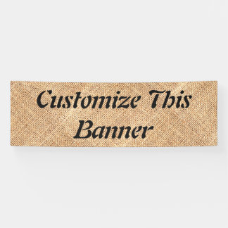 Burlap Jute Banner Party Sign Wedding Birthday