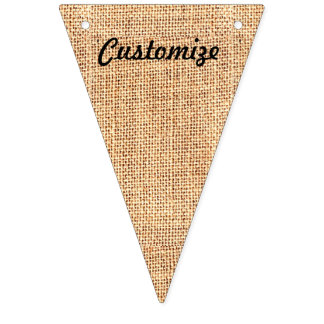 Burlap Jute Bunting Triangle Flag Party Banner