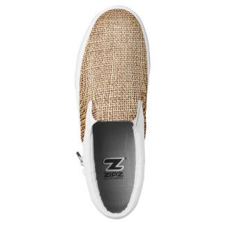 Burlap Jute Cool Design Slip On Sneaker