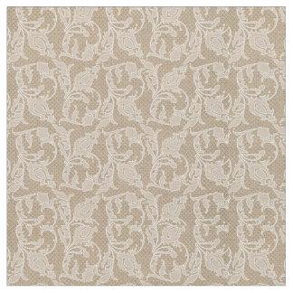 Burlap & Lace Tulip Fabric