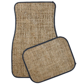 Burlap Look Design Car Mats
