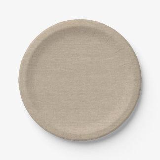 Burlap Look Paper Plate