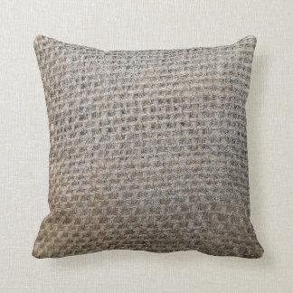 burlap-look pillow