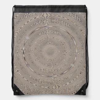 Burlap Look Swirled Bag Drawstring Bag
