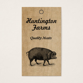 Burlap Pig and Meat Procduct Tag