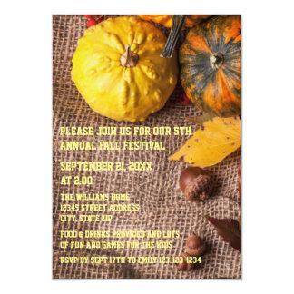 Burlap & Pumpkins - Fall Party Invitation