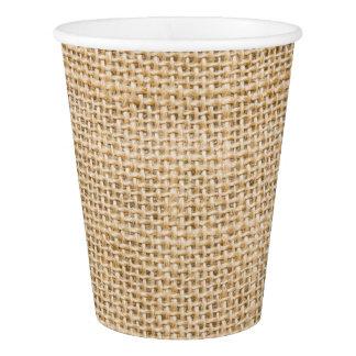 Burlap Rustic Paper Beverage Cups