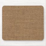 Burlap sack (jute) texture mousepad