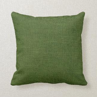 Burlap Simple Dark Green Cushion