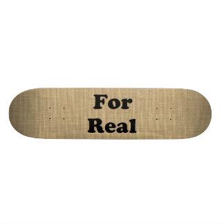 Burlap Skateboard Deck