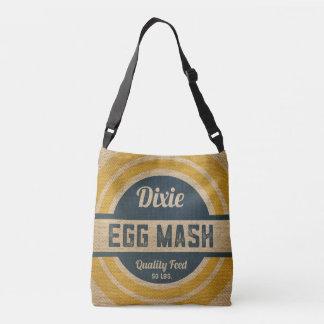 Burlap Style Vintage Feed Sack Egg Mash Tote Bag