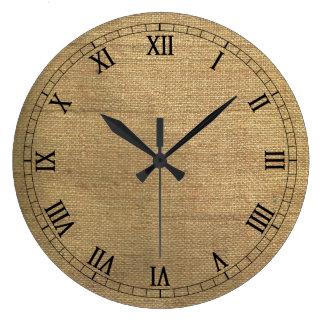 Burlap Style Wall Clock