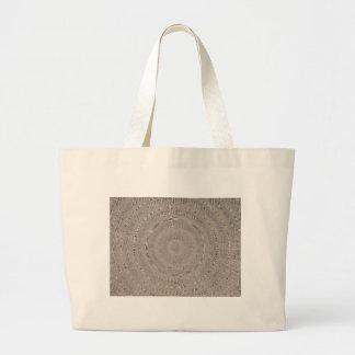 Burlap Swirl Jumbo Tote Bag