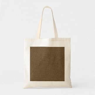 Burlap Texture Background Budget Tote Bag