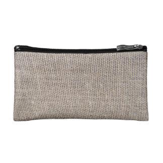 Burlap Texture Bag Cosmetic Bag
