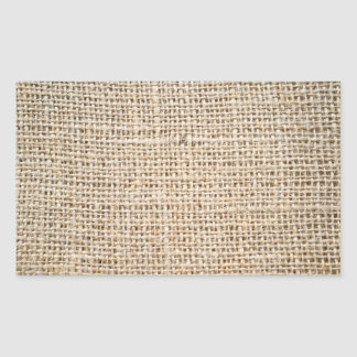 Burlap texture rectangular sticker