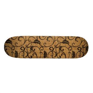 Burlap Texture Skate Board