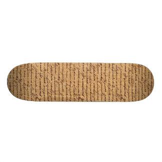 Burlap Texture Skate Deck