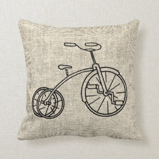 Burlap Tricycle Cushion