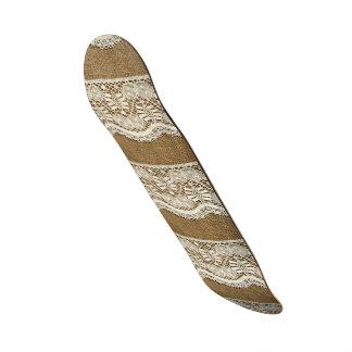 Burlap,white lace,vintage,victorian,rustic,trendy, 21.6 cm old school skateboard deck