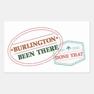 Burlington Been there done that Rectangular Sticker