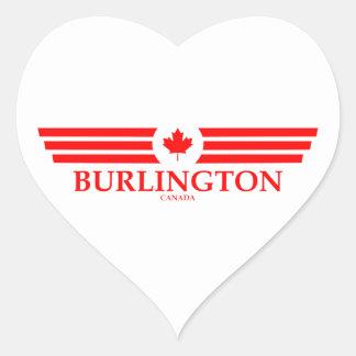 BURLINGTON HEART STICKER