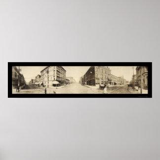 Burlington, IA Main St Photo 1907 Poster