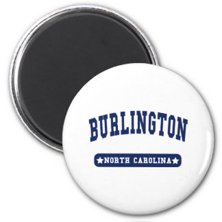 Burlington North Carolina College Style t shirts Magnet