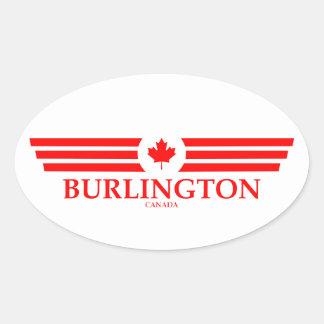BURLINGTON OVAL STICKER
