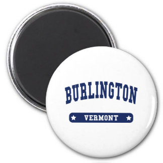 Burlington Vermont College Style t shirts Refrigerator Magnets