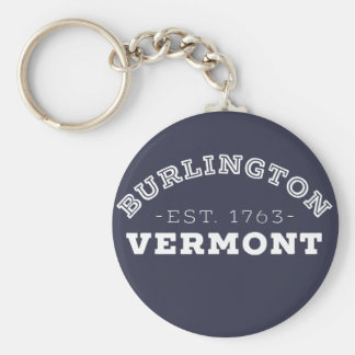 Burlington Vermont Key Ring