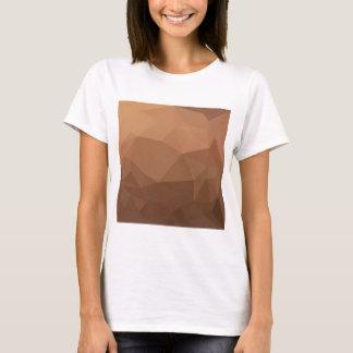 Burlywood Goldenrod Abstract Low Polygon Backgroun T-Shirt