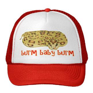 """Burm, Baby, Burm"" Fire Burmese Python Hat"