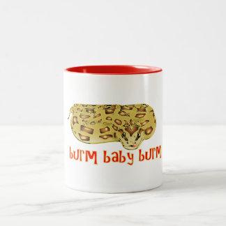 """Burm, Baby, Burm"" Fire Burmese Python Mug"