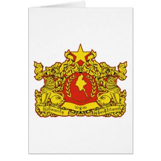 burma emblem card
