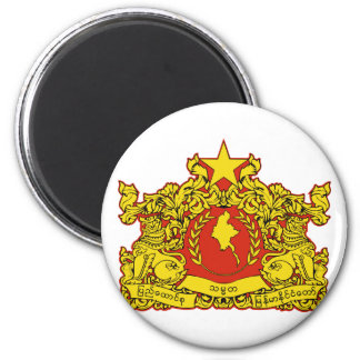 burma emblem 6 cm round magnet