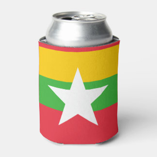 Burma Flag Can Cooler