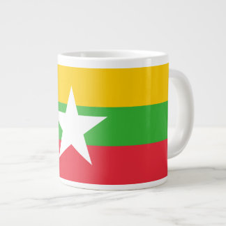 Burma Flag Large Coffee Mug
