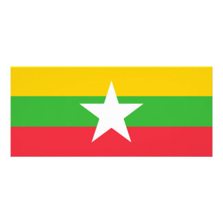 Burma Flag Rack Card