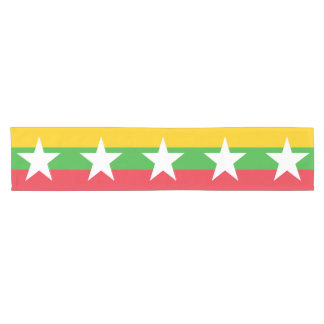 Burma Flag Short Table Runner