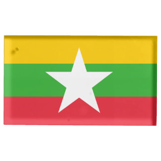 Burma Flag Table Number Holder