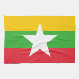 Burma Flag Tea Towel