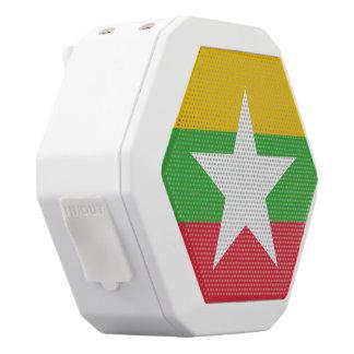 Burma Flag White Bluetooth Speaker